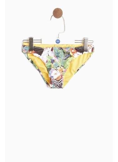 Tyess Kız Çocuk Desenli Bikini Renkli